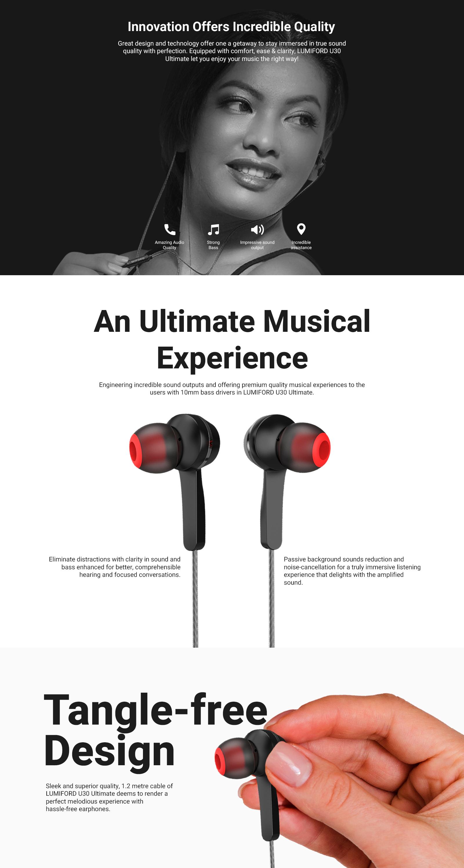 LUMIFORD U30 in-Ear Wired Earphones