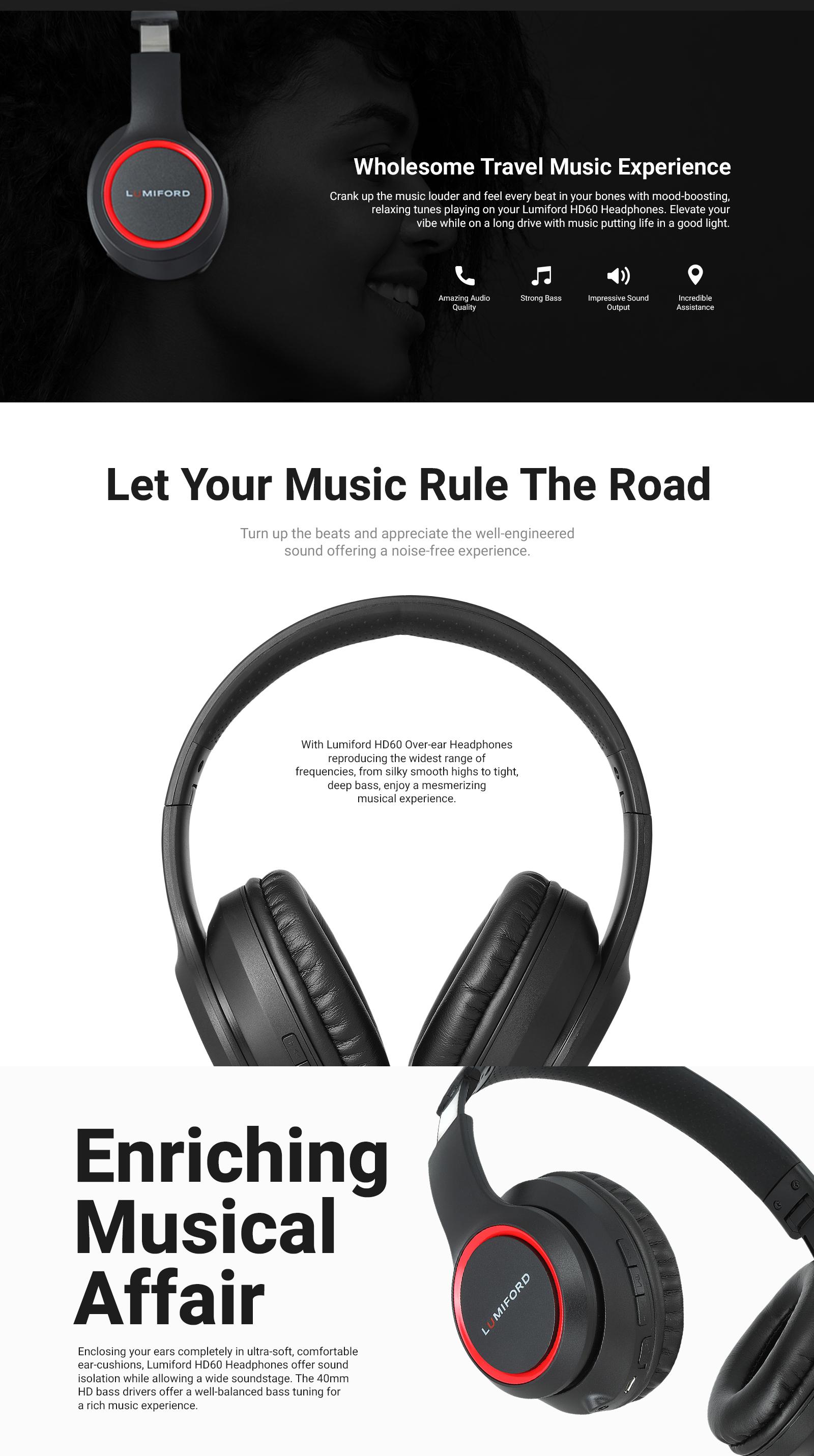 LUMIFORD HD60 Wireless Headphones
