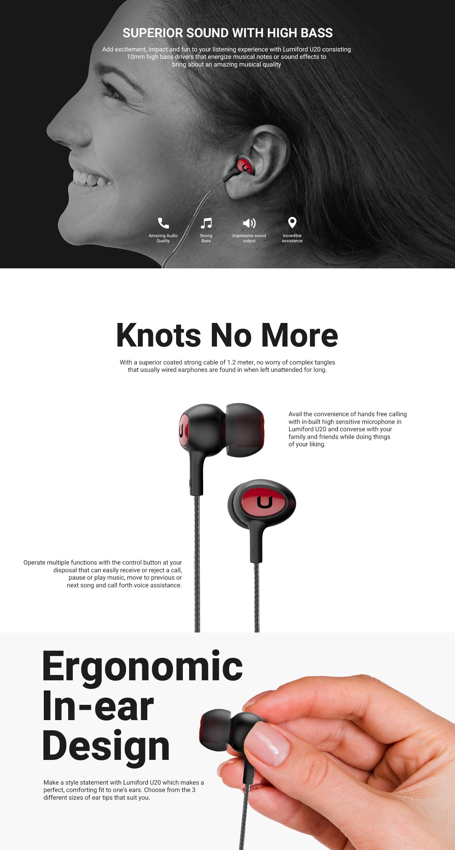 LUMIFORD  U20 in-Ear Wired Earphones