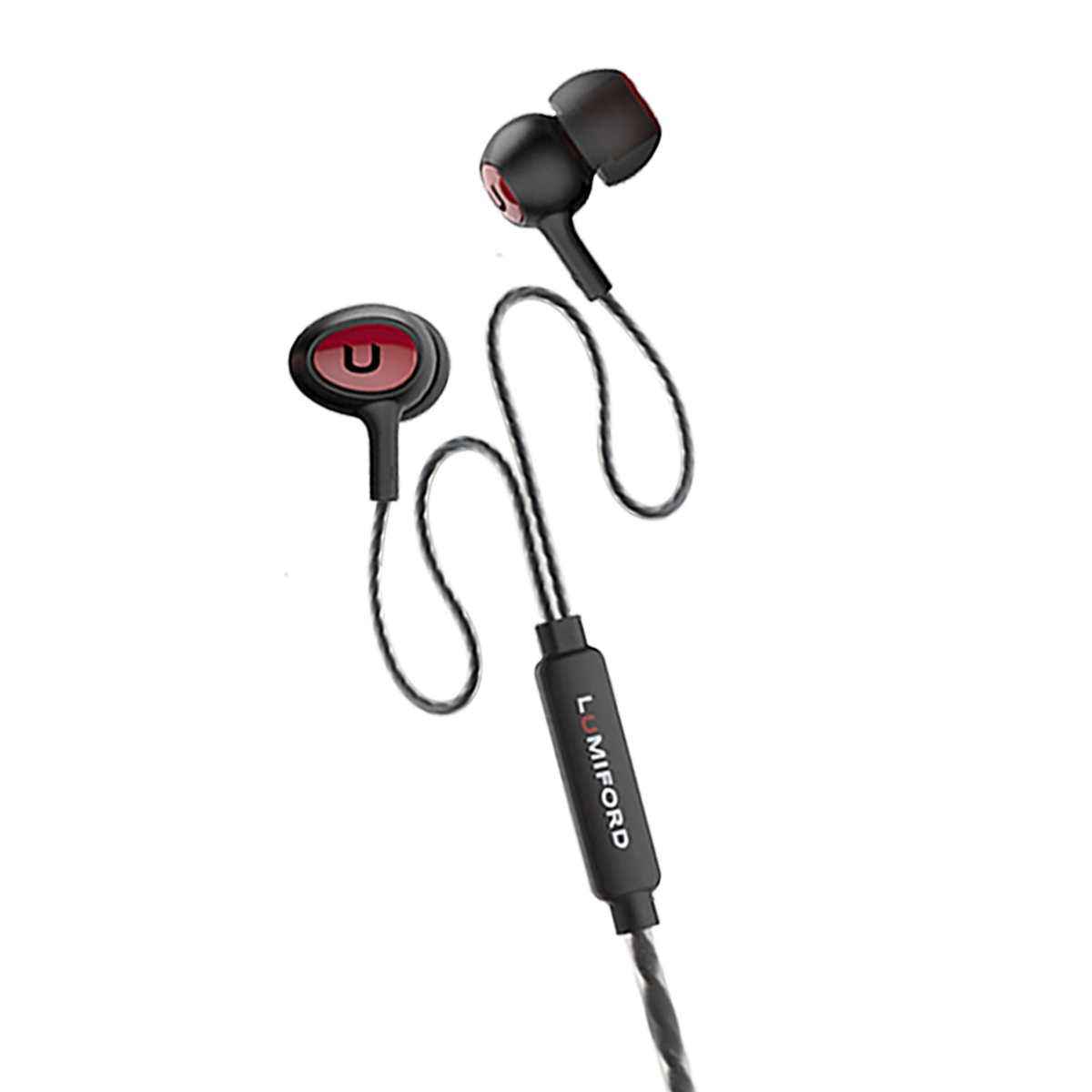 LUMIFORD U20 ULTIMATE SERIES WIRED IN-EAR EARPHONE RED
