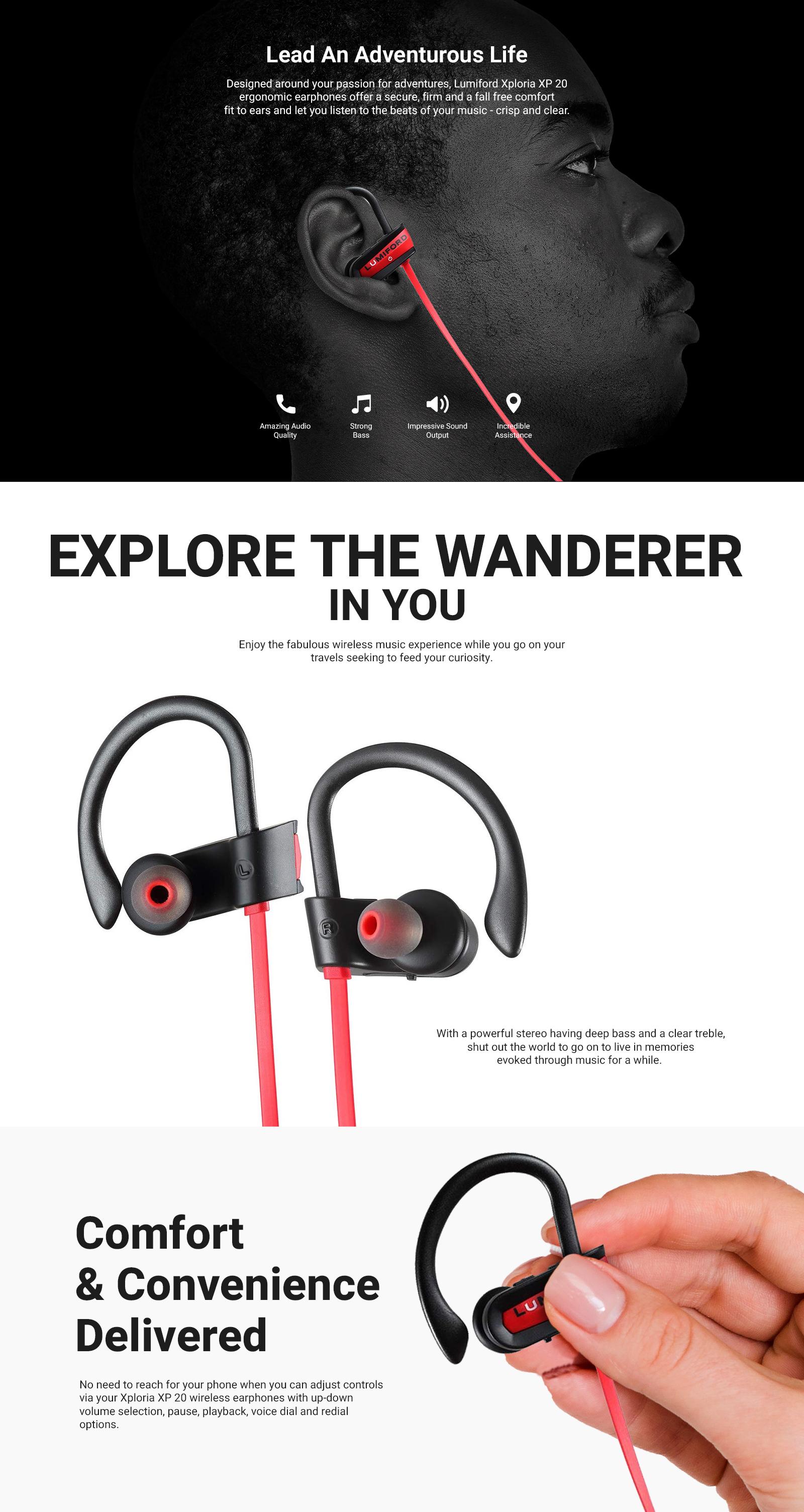 LUMIFORD XP20 Wireless Bluetooth Earphones