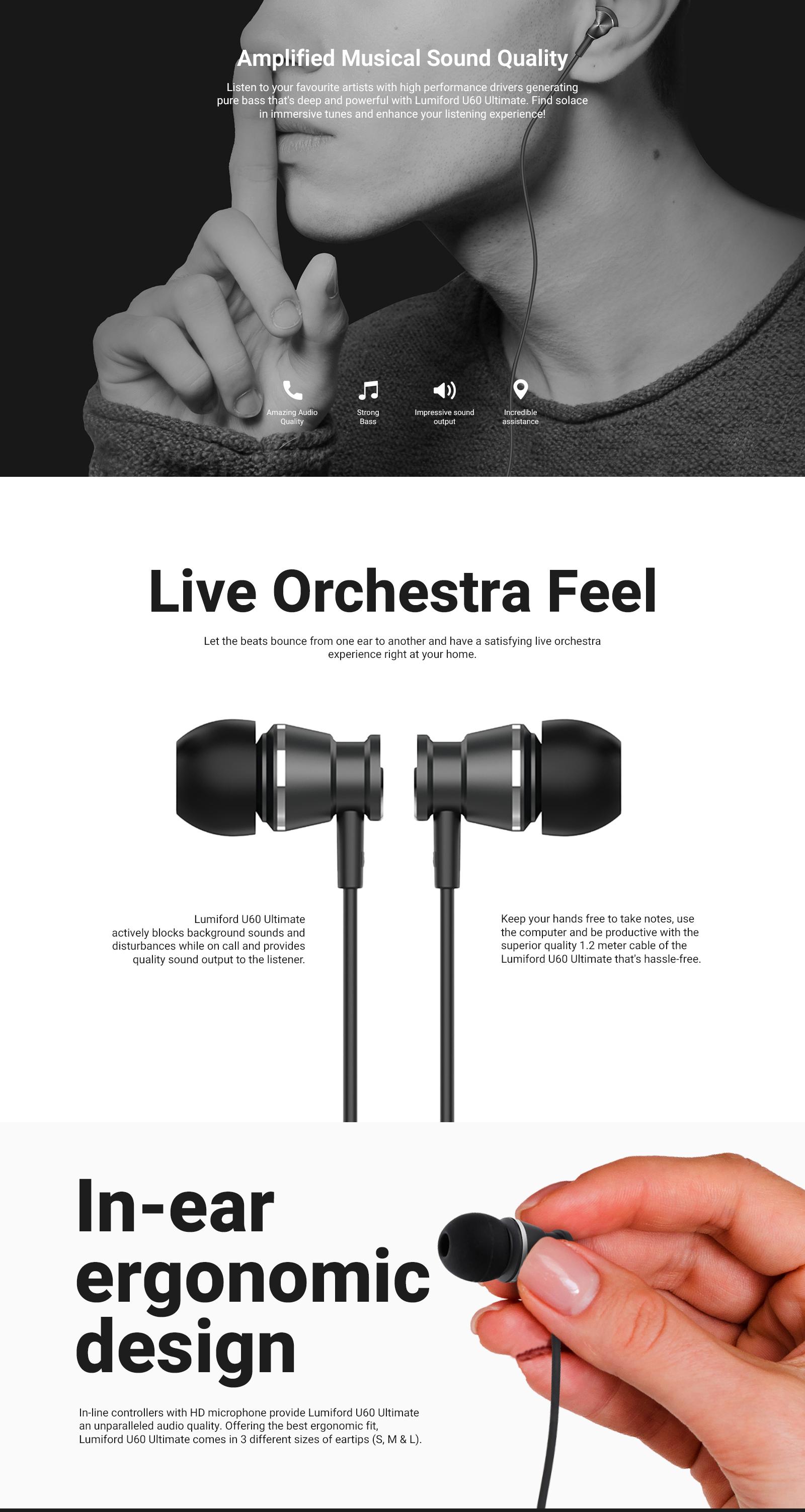 LUMIFORD U60 In-Ear Wired Earphones