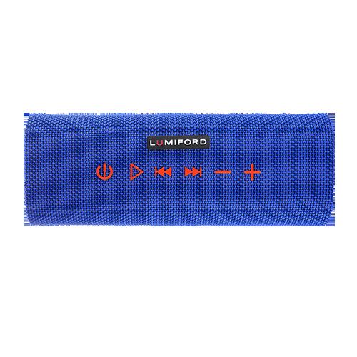 LUMIFORD Stereo Blue Log  Bluetooth Speaker